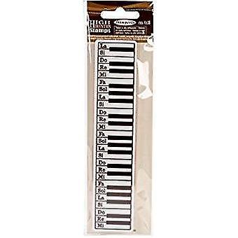 Stamperia Natural Rubber Stamp Keyboard