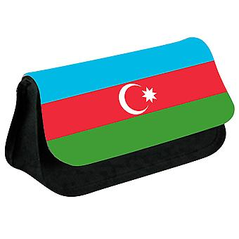 Azerbaijan Flag Printed Design Pencil Case for Stationary/Cosmetic - 0011 (Black) by i-Tronixs