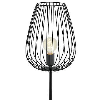 Eglo Newtown kooi vloerlamp zwart
