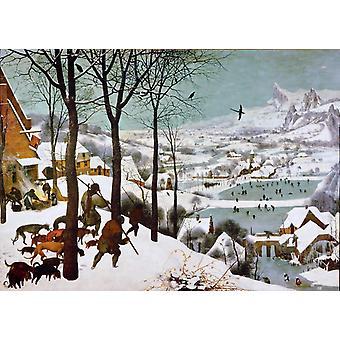 الصيادين في الثلج، بيتر بروغل الأصغر سنا، 50x36cm