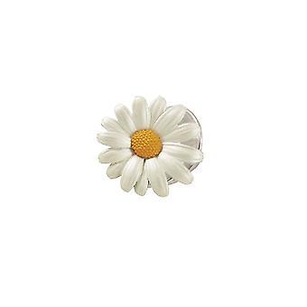 Eeuwige collectie Daisy wit geëmailleerd zilveren Toon Petite Lapel pins