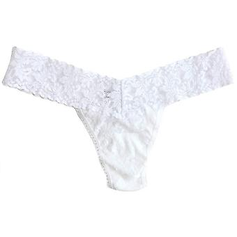 Hanky Panky Signature Lace Low Rise Thong - White