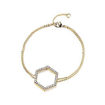 Kaytie Wu Gold Plated Hexagon Bracelet with Swarovski Crystals  28044