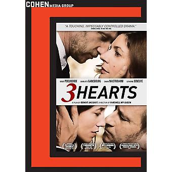 3 Hearts [DVD] USA import