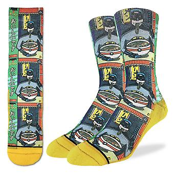 Socks - Good Luck Sock - Men's Active Fit - Batman & Ramen (8-13) 4124