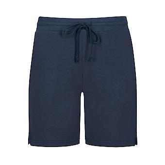 Mey 16966-408 Kvinner's Night2Day Demi Night Blue Cotton Loungewear Kort