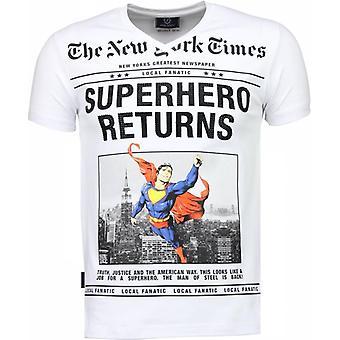 SuperHero Returns-T-shirt-Blanc
