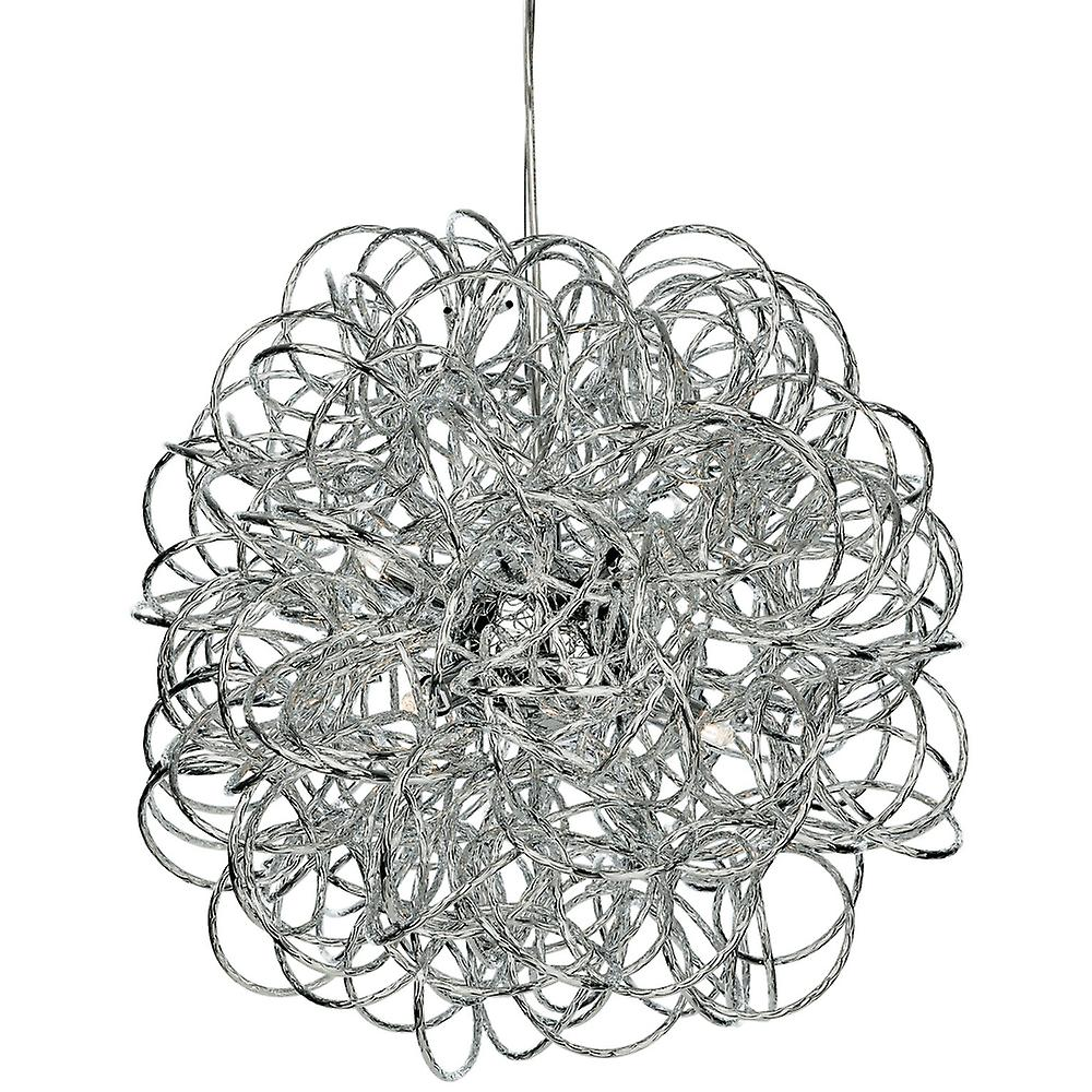 Firstlight Stella Six Light Starburst Pendant In Chrome