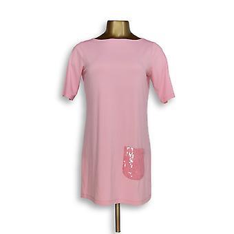 Joan elver Classics Collection kvinner ' s topp XXS kort ermet rosa A264800