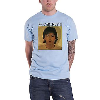 Paul McCartney T Shirt McCartney II Album Cover new Official Mens Light Blue