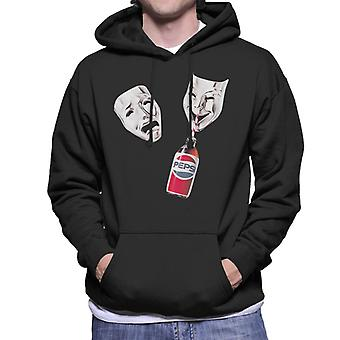 Pepsi Theater Masken Men's Kapuzen Sweatshirt