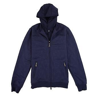 Armani Jeans con cappuccio giacca blu