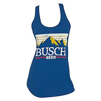 Busch Beer logo racerback mulheres ' s Blue Tank Top