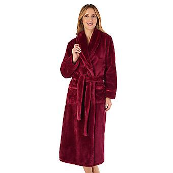 Slenderella HC4342 Women's Housecoats Raspberry Red Robe