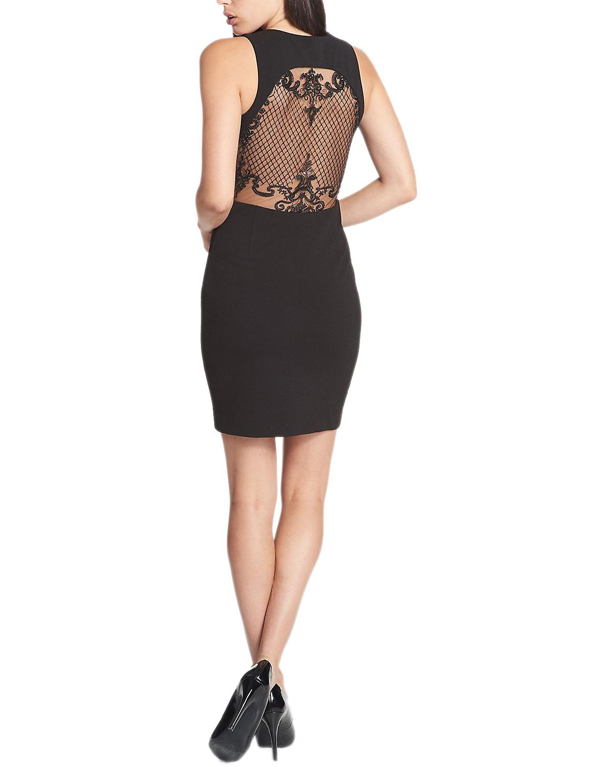 GUESS Sequined Fishnet Back Dress