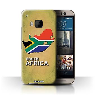 STUFF4 Case/Cover for HTC One/1 M9/South Africa/African/Flag Nations