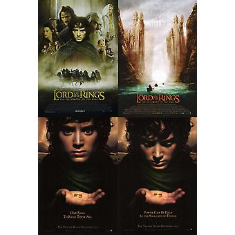 The Lord Of The Rings Fellowship Of The Ring Poster Collection (Set Of 4) (2001) Original Cinema Posters