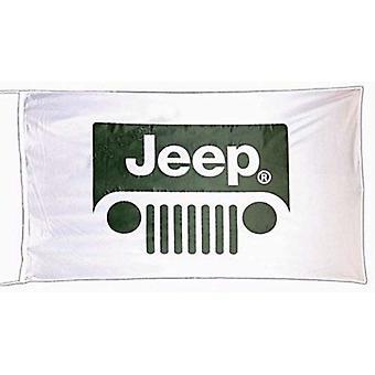 Jeep galler flagga vitt landskap 1500mm x 900mm (av)