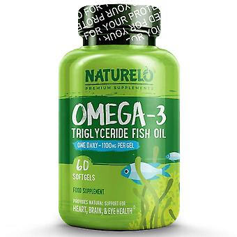 Premium omega-3 fish oil - 1100 mg triglyceride - one a day