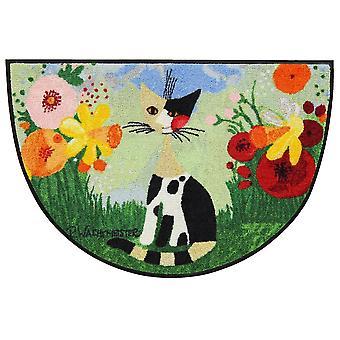 Rosina Wachtmeister deurmat Annette halfronde 60 x 85 cm door Salon Leeuw matten wasbaar