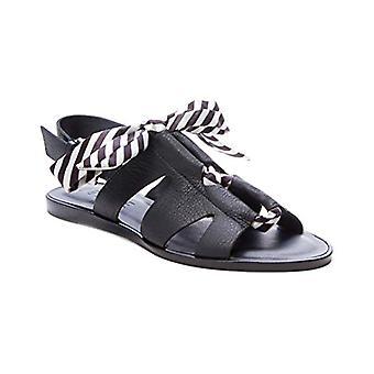 1. staat Womens 1S-Teena lederen open teen casual slingback sandalen