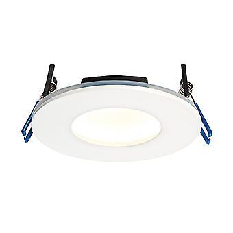 Saxby Lighting Orbitalplus Fire Rated Integrated LED 1 Light Bathroom Recessed Light Matt White IP65 69880