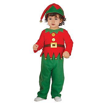 Peuters schattig elf kerst fancy dress kostuum