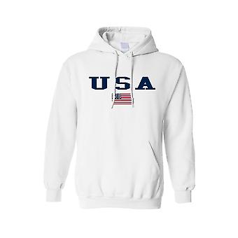 Men's Hoodie U.S.A. Flag Proud To Be An American