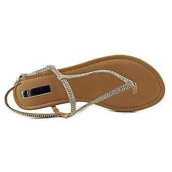INC International Concepts Womens Macawi2 Fabric Split Toe Casual T-Strap Sandals
