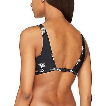 Volcom Junior's Z for Zebra Scoop Neck Bikini Top, Black, M
