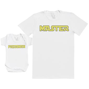 Master & Padawan - Baby Gift Set with Baby Bodysuit & Father's T-Shirt