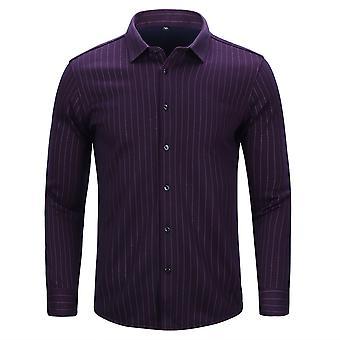 Allthemen Men's Winter Casual Thick Square-Neck Winter Striped Shirt Top