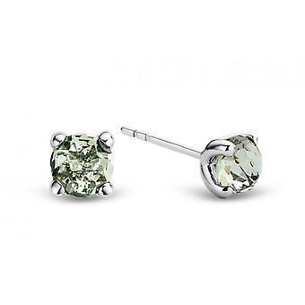 Earrings Ti Sento 7768GG - earrings silver stone grey green