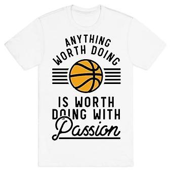 Alles wat de moeite waard basketbal t-shirt