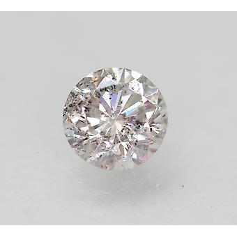 Certified 0.66 Carat G SI1 Round Brilliant Enhanced Natural Loose Diamond 5.54mm