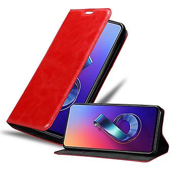 Cadorabo case for Asus ZenFone 6 case case cover - mobile phone case with magnetic clasp, stand function and card compartment – Case Cover Protective case case Book Folding Style