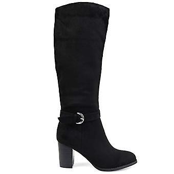 Brinley Co Comfort Womens Side Strap Riding Boot Black, 11 Regular US
