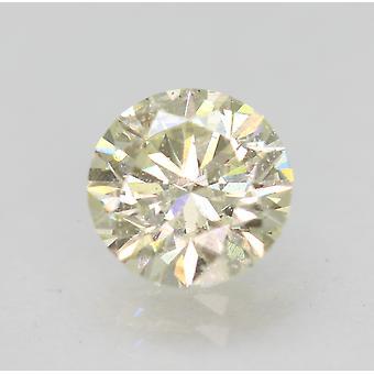 Certified 1.06 Carat J VS2 Round Brilliant Enhanced Natural Diamond 6.53m EX CUT
