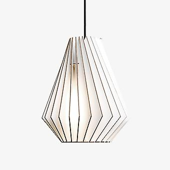 Iumi Hektor Cone Shaped Birch Plywood Pendant - White