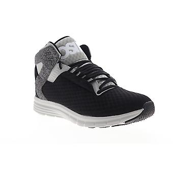 Osiris Equinox LTE  Mens Black Mesh Lace Up Athletic Skate Shoes