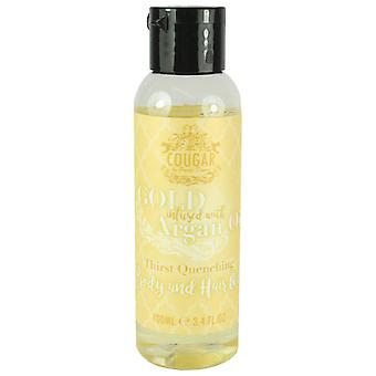 Cougar Gold Infused Argan OIl Body & Hair Oil 100ml
