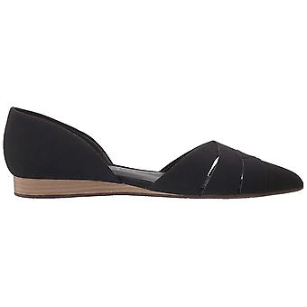 BC Footwear Women's Focal Point Ballet Flat, Black, 8.0 Medium US