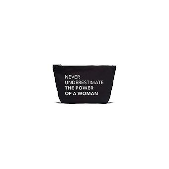 Los Angeles Trading Co 'Power Of A Woman... ' Designer Black Pouch