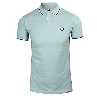 Pretty green men's blue barton tipped pique polo shirt