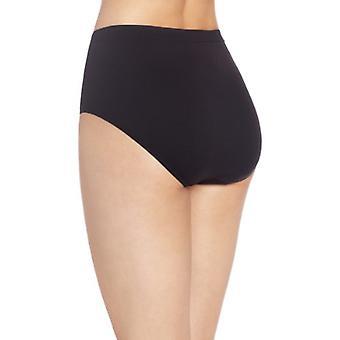 Bali Women's Comfort Revolution Seamless Brief Panty, Black, 10/11
