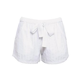 Cyberjammies 4473 Women's Sasha White Striped Cotton Pyjama Short