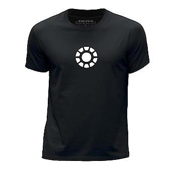STUFF4 Boy's Round Neck T-Shirt/Arc Reactor Core/Black
