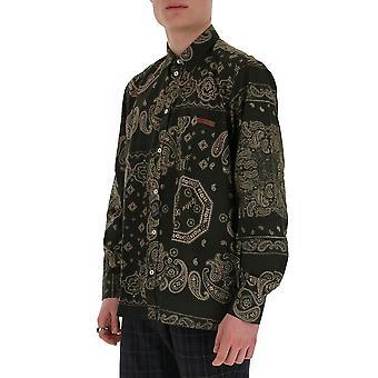 Ganso Dourado G36mp518a5 Men's Camisa de Algodão Verde