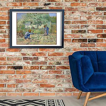 Vincent Van Gogh - First Steps (after Millet), 1890 Poster Print Giclee