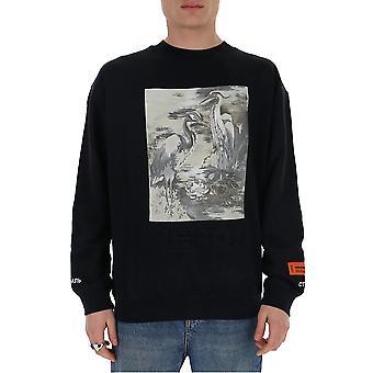 Heron Preston Hmba007s208960221088 Men's Black Cotton Sweatshirt